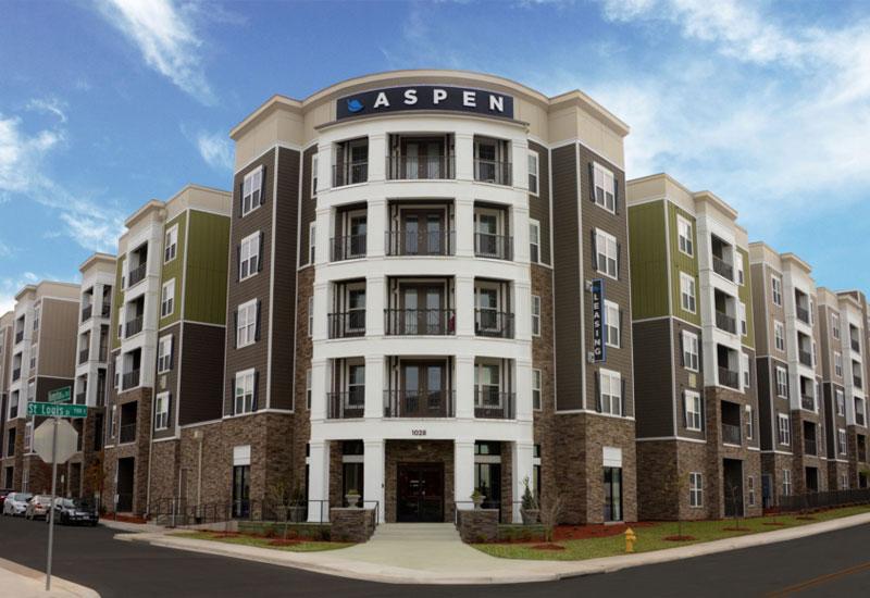 Aspen Heights apartments concrete construction by Advanced Concrete Technologies