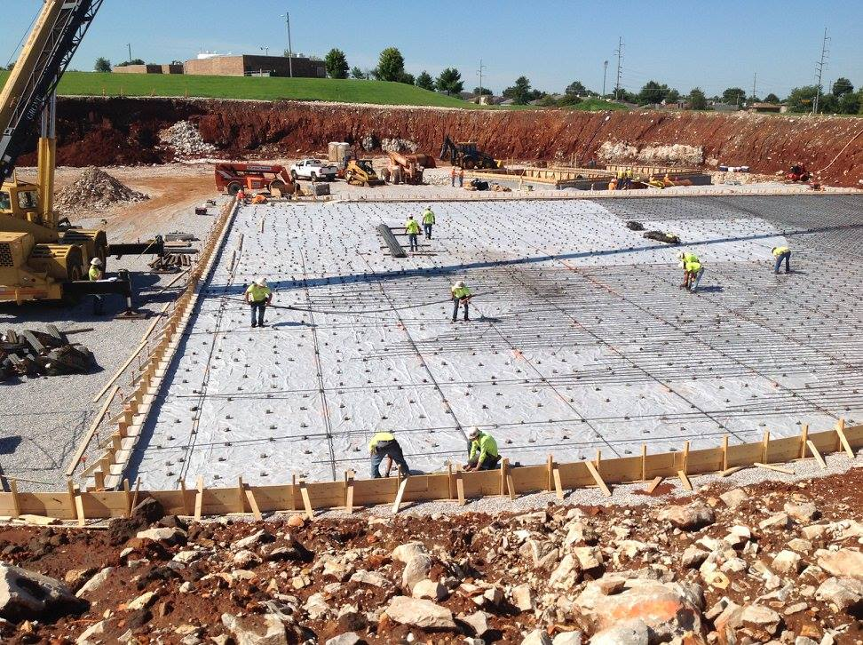 Blackman Water Treatment Plant concrete pouring by Advanced Concrete Technologies