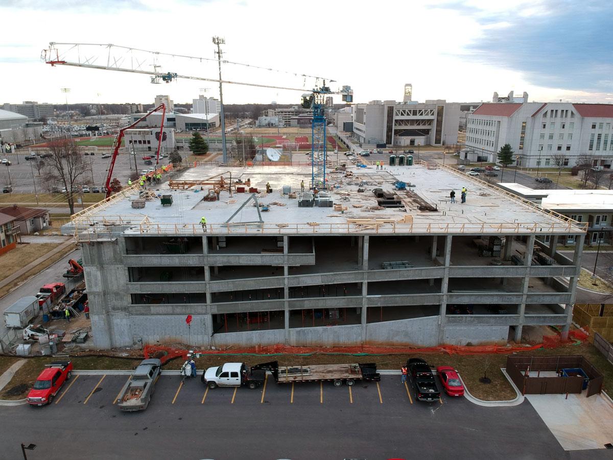 Parking garage concrete construction by Advanced Concrete Technologies