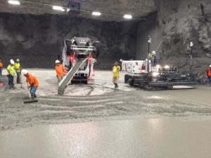 Springfield underground concrete pouring by Advanced Concrete Technologies