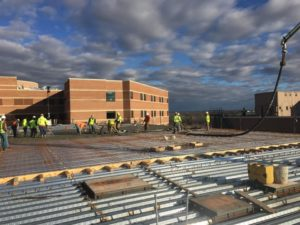 Washington Regional medical center concrete pouring by Advanced Concrete Technologies